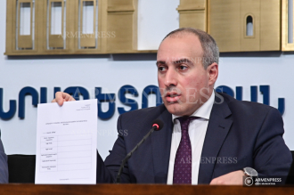 Press conference of Suren Krmoyan, advisor to deputy PM