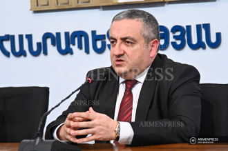 Food Safety Agency chief Georgy Avetisyan's news briefing