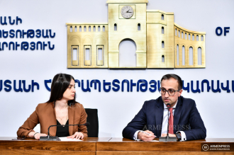 Healthcare Minister Arsen Torosyan holds press conference
