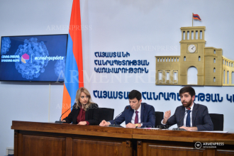 Press conference of deputy ministers of economy Arman 