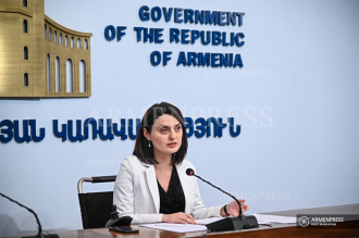 Press conference of minister of labor and social affairs Zaruhi 