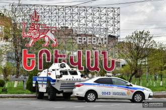 Checkpoints on roads linking Yerevan and provinces