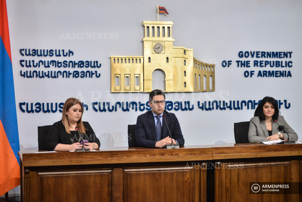 News briefing of Justice Minister Rustam Badasyan and Deputy Healthcare Minister Lena Nanushyan