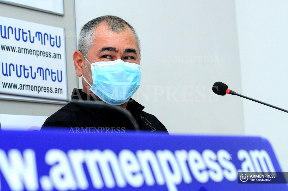Press conference of head coach of Armenia's gymnastics team Hakob Serobyan