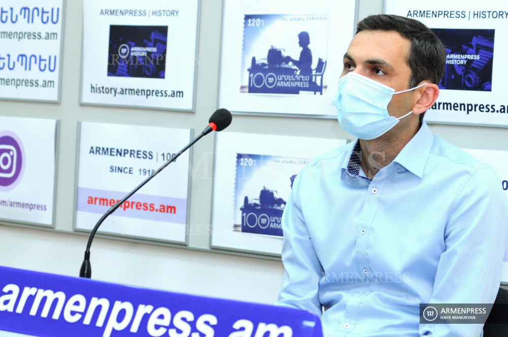 Press conference of director of National Center for Addictions Treatment at the ministry of health Suren Nazinyan