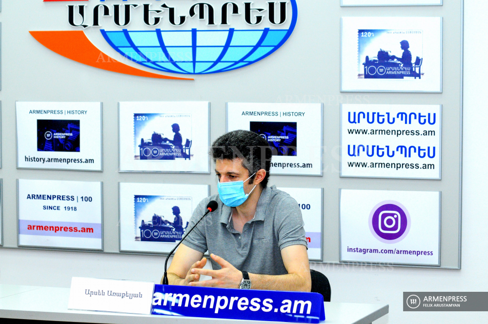 Press conference of Arsen Arakelyan, Director of Institute of Molecular Biology of the Armenian National Academy of Sciences