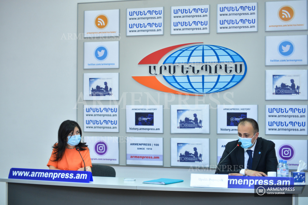 Press conference of Minister of Healthcare Arsen Torosyan