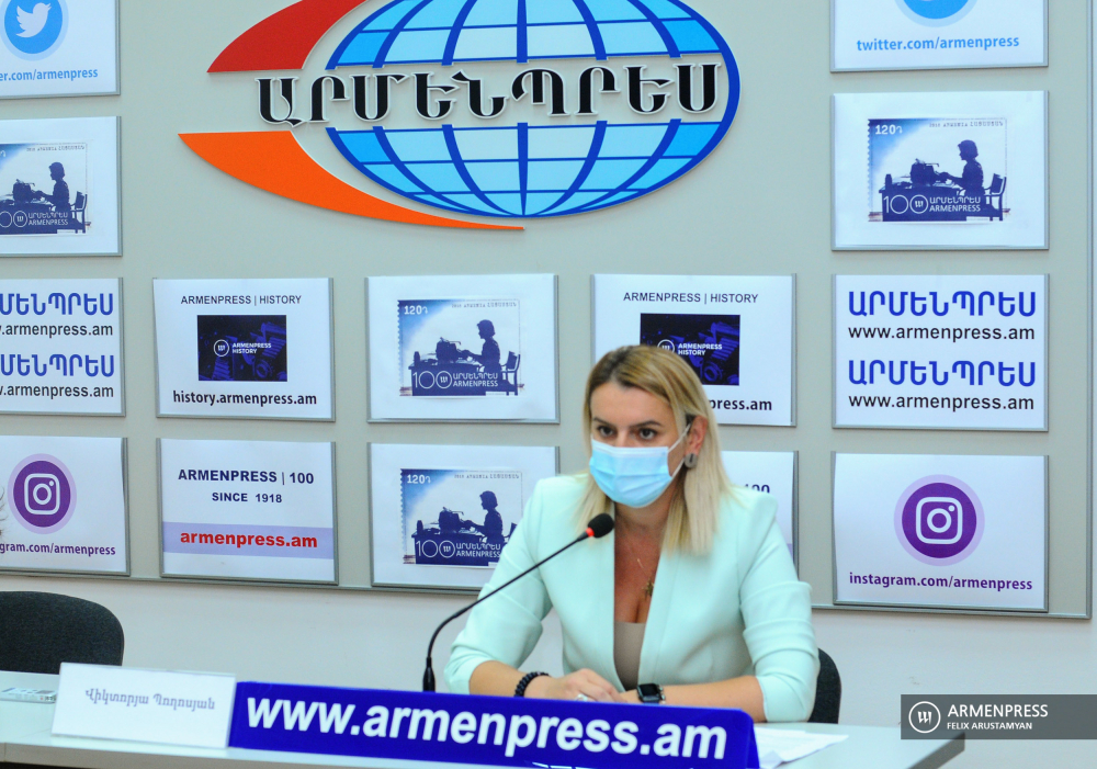 Deputy Minister of High Tech Industry Victoria Poghosyan's news conference