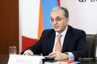 Armenian FM delivers speech at online ministerial meeting of 
