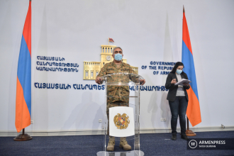 Armenian military and foreign ministry deliver joint briefing