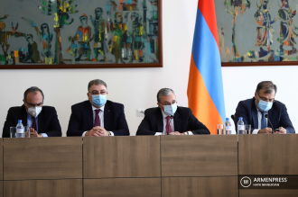 Meeting of Armenian FM Zohrab Mnatsakanyan with heads of 