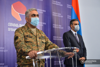 Press briefing of Armenia's defense ministry representative 