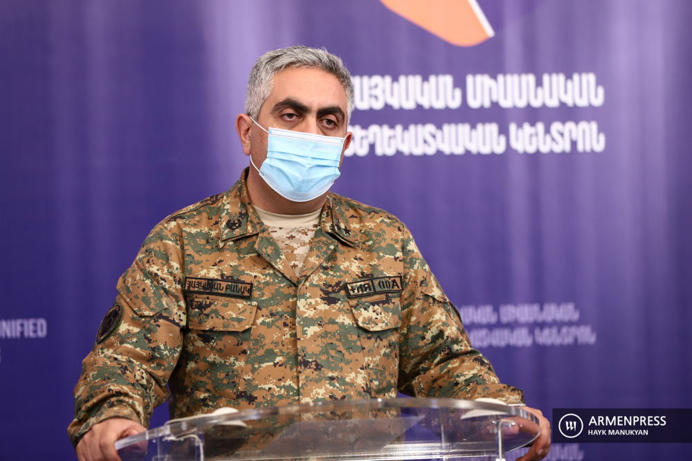 Press conference of Armenia defense ministry's representative Artsrun Hovhannisyan