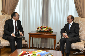 FM Ara Ayvazyan receives new Chinese ambassador
