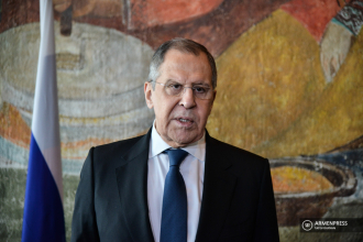 Russian Foreign Minister Sergei Lavrov holds briefing in 