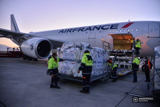 French relief plane lands in Yerevan