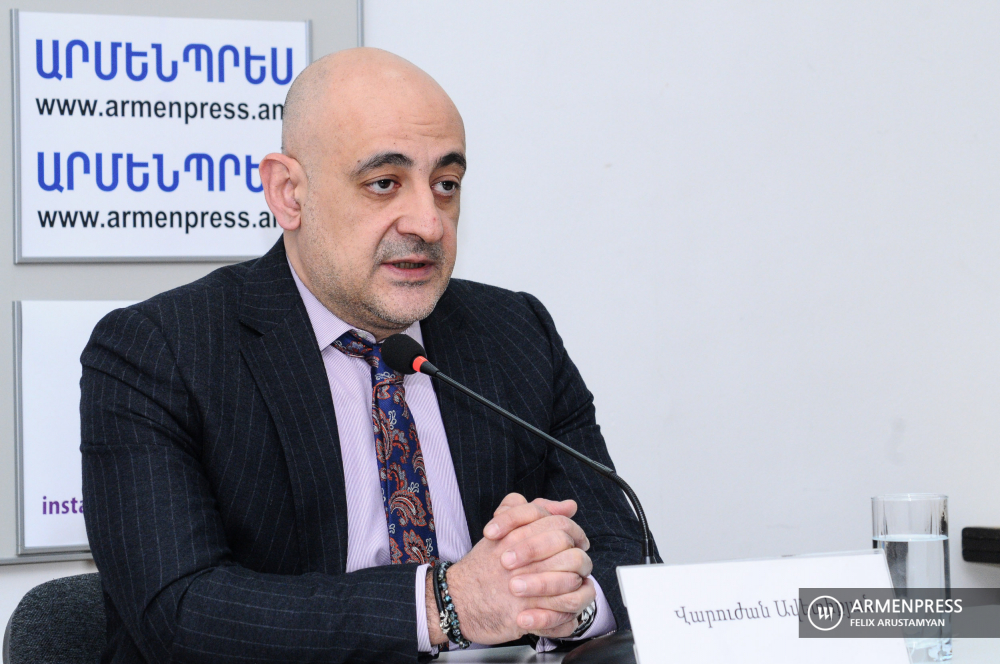 Press conference of Director of Military Insurance Fund Varuzhan Avetikyan