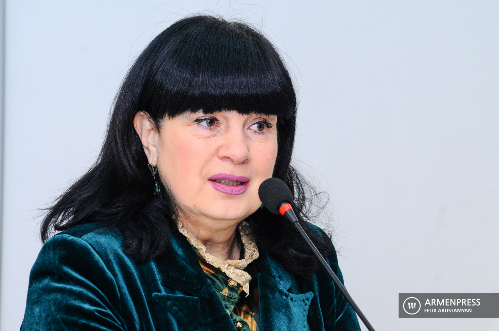 Director of Russian Drama Theater after K. Stanislavsky Marianna Mkhitaryan holds press conference