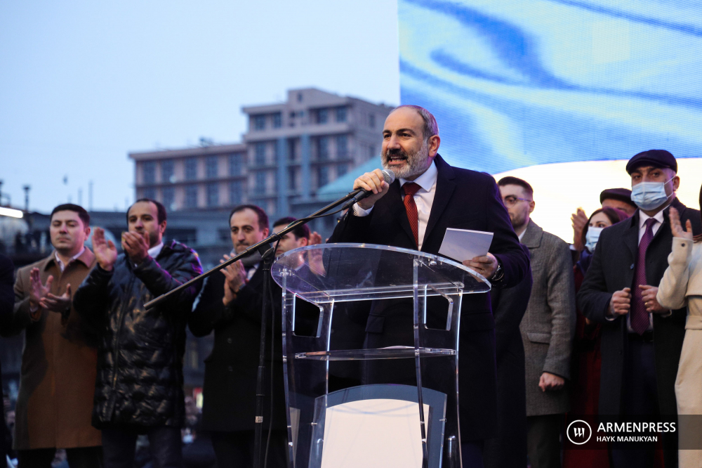 Rally organized by PM Pashinyan kicks off at Republican Square